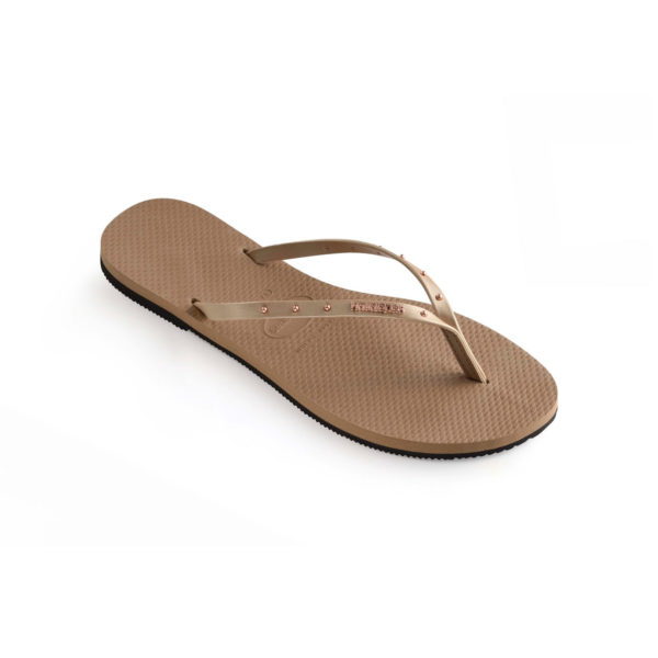 Havaianas Flipflops Sandale Badeschuh Zehentrenner You Maxi Rose Gold Badelatschen Badeschlappen Einzel