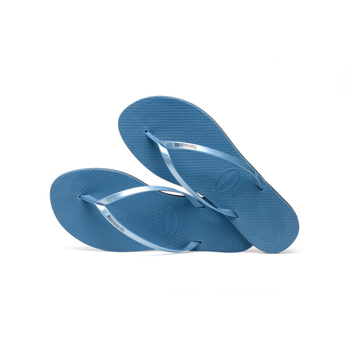 Havaianas Flipflops Sandale Badeschuh Zehentrenner You Metallic Blue Badelatschen Badeschlappen