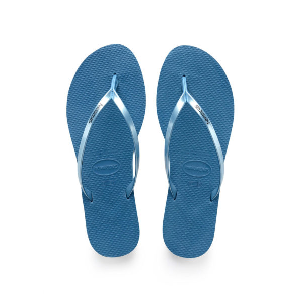 Havaianas Flipflops Sandale Badeschuh Zehentrenner You Metallic Blue Badelatschen Badeschlappen Aufsicht