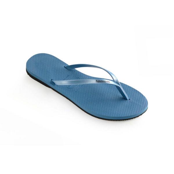 Havaianas Flipflops Sandale Badeschuh Zehentrenner You Metallic Blue Badelatschen Badeschlappen Einzel