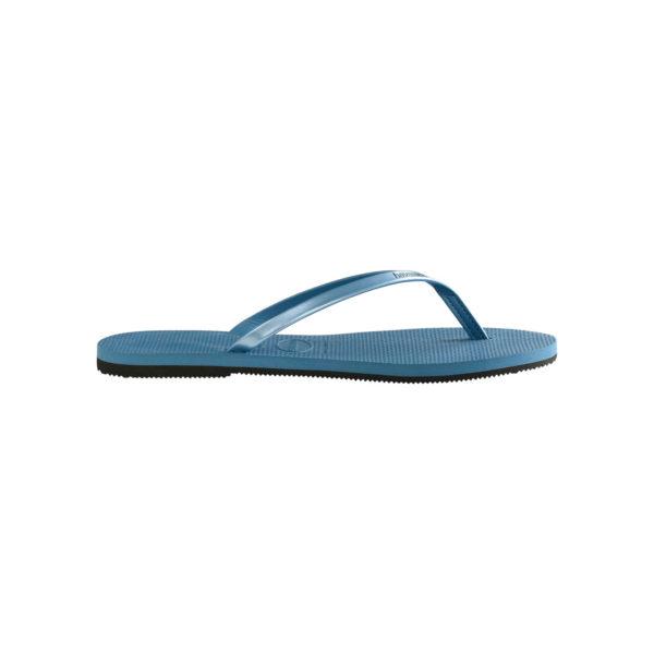 Havaianas Flipflops Sandale Badeschuh Zehentrenner You Metallic Blue Badelatschen Badeschlappen Seite