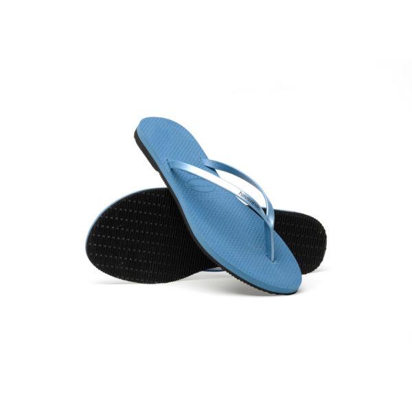 Havaianas Flipflops Sandale Badeschuh Zehentrenner You Metallic Blue Badelatschen Badeschlappen Sohle