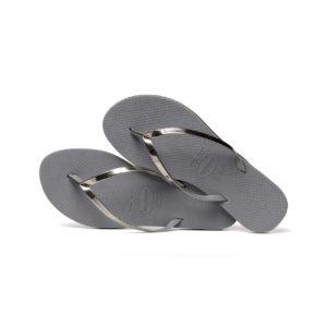 Havaianas Flipflops Sandale Badeschuh Zehentrenner You Metallic Steel Grey Badelatschen Badeschlappen