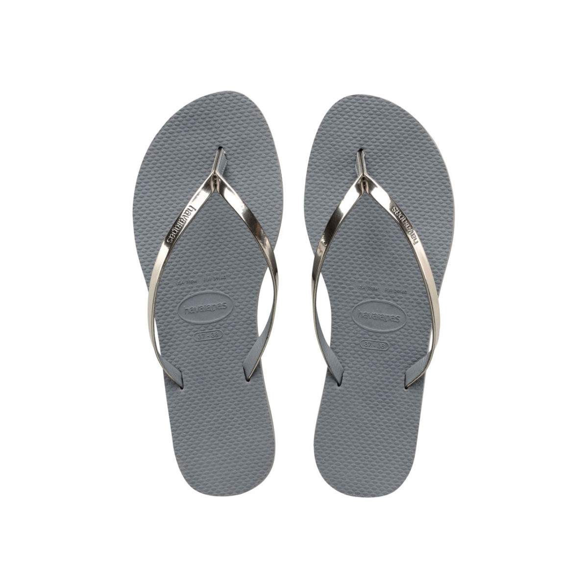 Havaianas Flipflops Sandale Badeschuh Zehentrenner You Metallic Steel Grey Badelatschen Badeschlappen Aufsicht