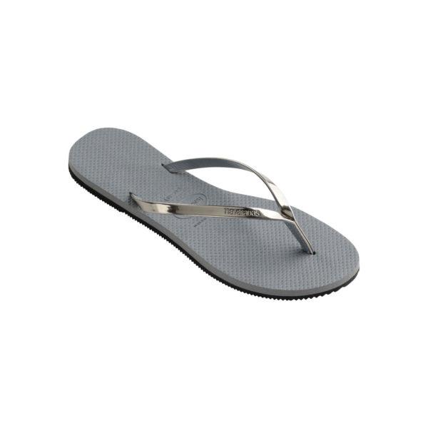 Havaianas Flipflops Sandale Badeschuh Zehentrenner You Metallic Steel Grey Badelatschen Badeschlappen Einzel