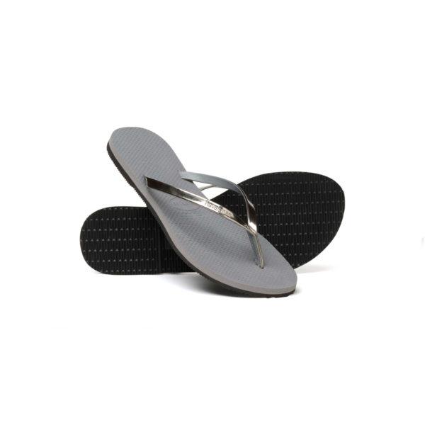 Havaianas Flipflops Sandale Badeschuh Zehentrenner You Metallic Steel Grey Badelatschen Badeschlappen Sohle