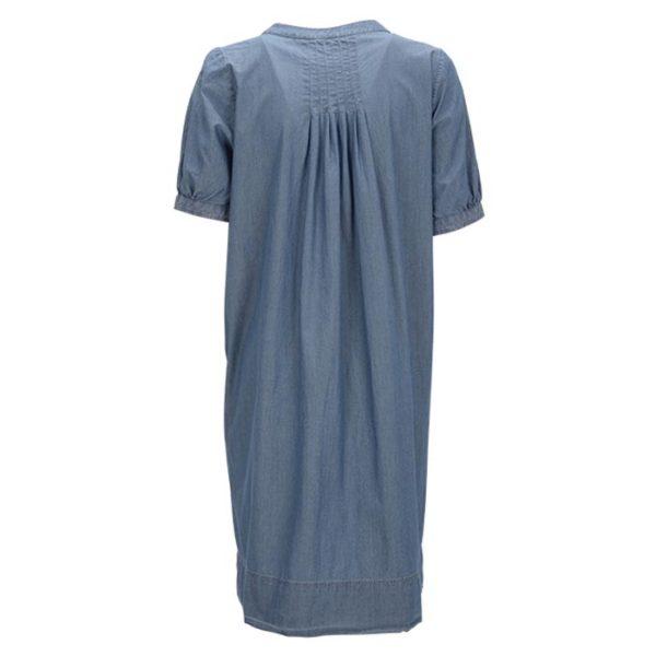 Robert-Friedman-MaryJ-authentic-sophisticated-high-premium-quality-dress-dark-blue-ruffels-rüschen-rueckseite-back