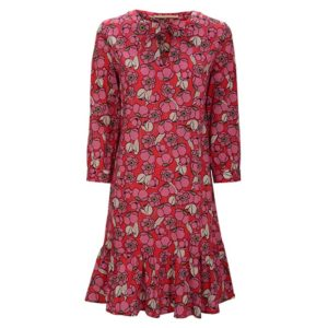 Zimt-und-zucker-floraler-print-meringue-watermelon-chick-dress-kleid-rot-red-vorderseite-front