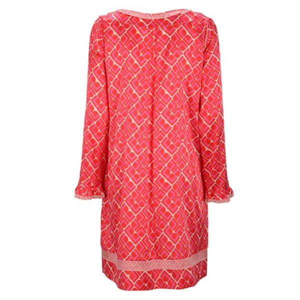 Zimtzucker-satin-dress-retro-Print-Muster-watermelon-pitaya-Kleid-Summer-Sommer-rueckseite-back