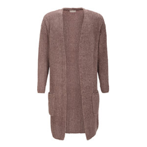 cardigan-lo-delicatelove-chenille-mauve-flauschig-weich-front