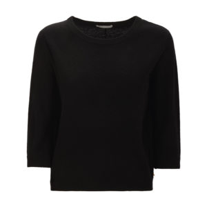 pullover-sweater-kurzarm-delicatelove-sunny-black-kaschmir-wolle-cashmere-front