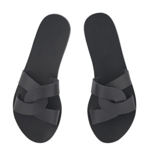 Ancient Greek Sandals Sandalen Desmos Off Black Schwarz Leather