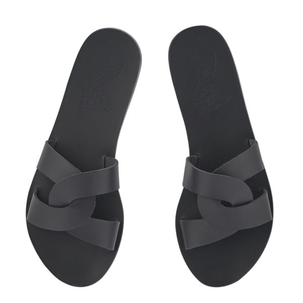 Ancient Greek Sandals Sandalen Desmos Off Black Schwarz Leather