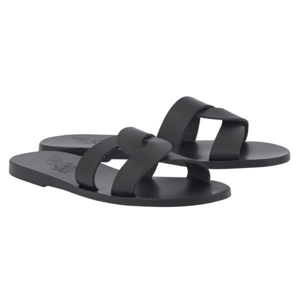 Ancient Greek Sandals Sandalen Desmos Off Black Schwarz Leder Leather