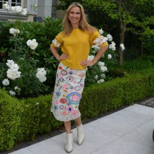 Essentiel-Antwerp-Snappy-Embroidered-Skirt-image