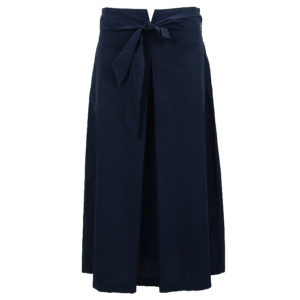 Philo Summer Skirt Midlength Esi Gere Casual Chic Dark Blue Front Vorderseite