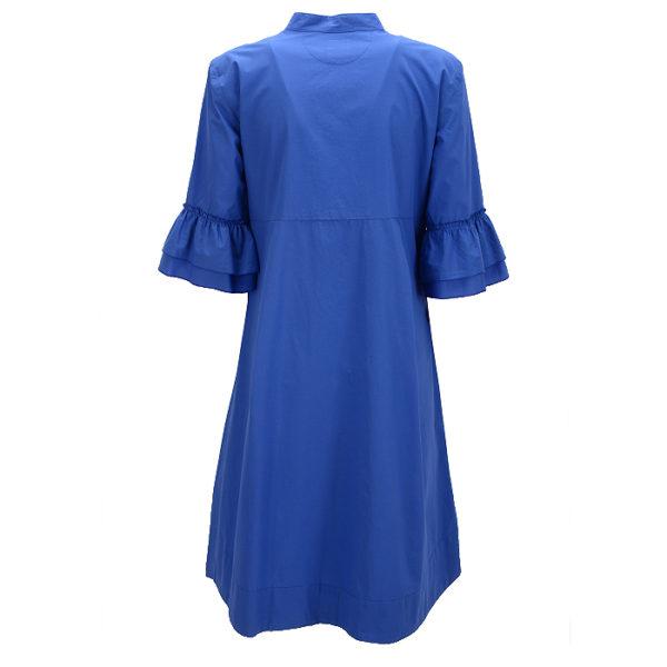 Philo Summerdress Sti Vale Casual Chic Blue Standup Collar Stehkragen Back Rueckseite