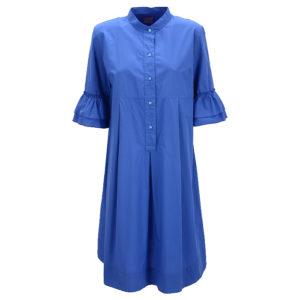 Philo Summerdress Sti Vale Casual Chic Blue Standup Collar Stehkragen Front Vorderseite