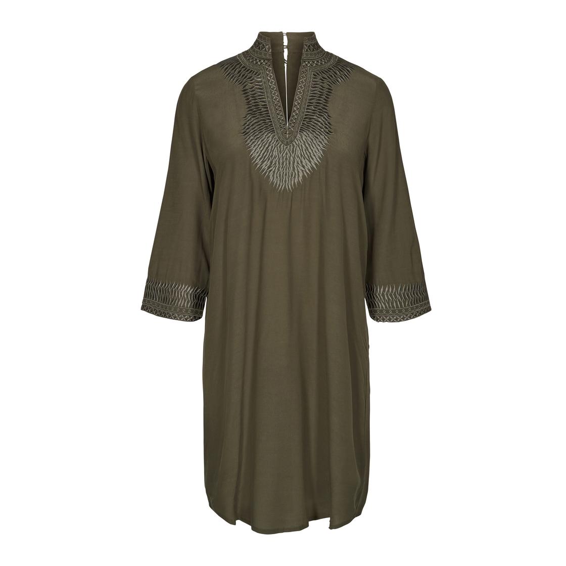 Mosmosh 128220 507 Tess Dress Grape Leaf Grün