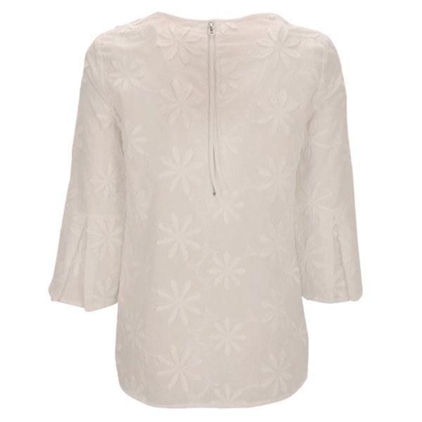 Zimt Und Zucker Weiß White Bluse Flower Blume Muster Kopie