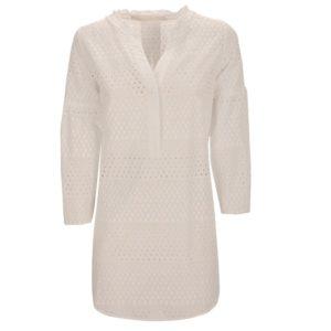 Zimt Und Zucker Weiß White Dress Kleid Dot Punkt Muster Naht Kopie