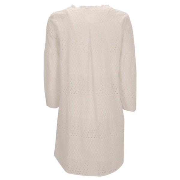 Zimt Und Zucker Weiß White Kleid Dress Dot Punkt Muster Naht.jpg Kopie