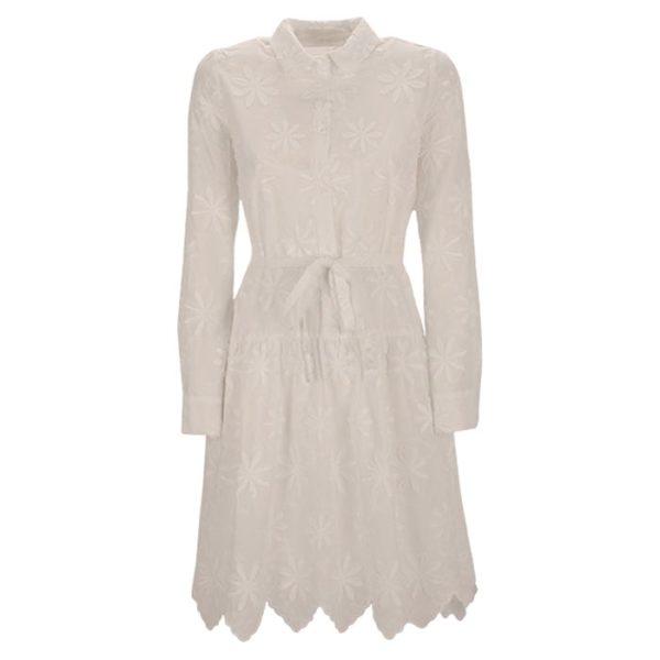Zimt Und Zucker Weiß White Kleid Dress Flower Blume Muster Naht.jpg Kopie