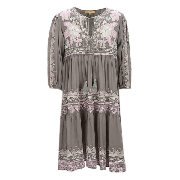 Rose And Rose Maxidress Summer Casual Voderseite Front Brown