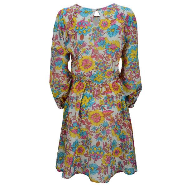 essentiel-antwerp-dress-scrunchy-raglan-sleeve-dress-flower-back-casual-summer-rueckseite
