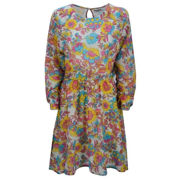 essentiel-antwerp-dress-scrunchy-raglan-sleeve-dress-flower-front-casual-summer-vorderseite