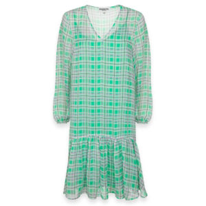 essentiel-antwerp-toriflower-dress-green-summer-check-pattern-karo-muster