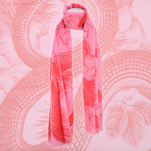 Friendly Hunting Scarf Schal Pattern Pink Red Cashmere Kaschmir Rot