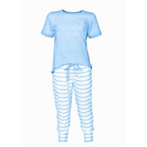 louis-und-louisa-Pyjama-blau-gestreift-das-leben-ist-schoen