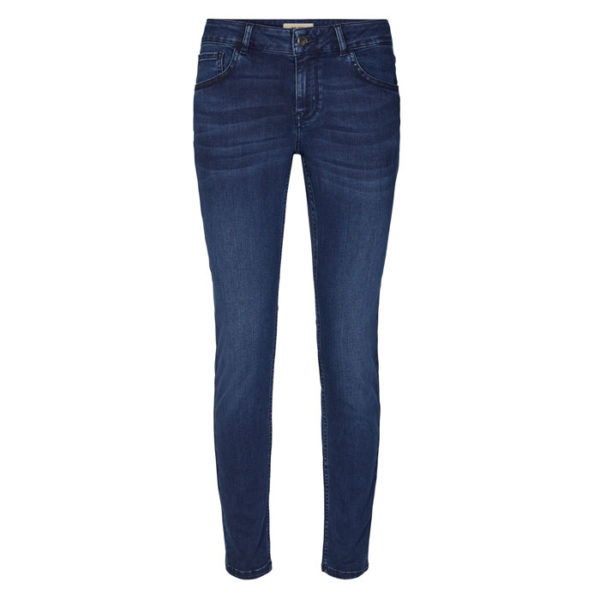 mosmosh-Sumner-Core-delux-Long-Jeans-slim-fit-lowrise-denim-blue-front-vorderseite