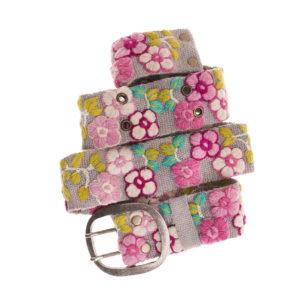 Smitten Perugüertel Ethno Blume Stickerei Flower Wolle Wool Margarita Rosy