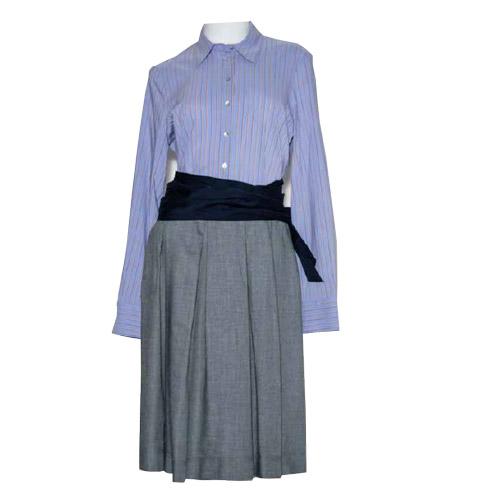 La-camicia-dress-blue-grey-kleider