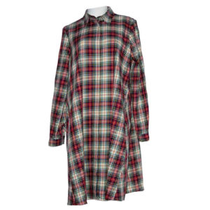 La-camicia-dress-karo-muster-kleid-oversize-casual
