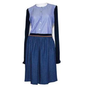 La-camicia-dress-sporty-blue-kleid-blau-oversize-casual