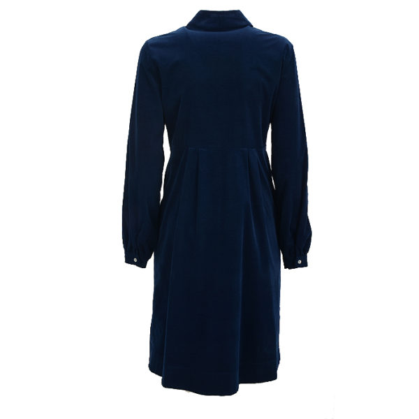 Cordkleid La Camicia Dress Blue Kleid Cord (1)