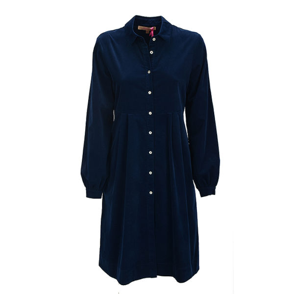 Cordkleid La Camicia Dress Blue Kleid Cord (2)