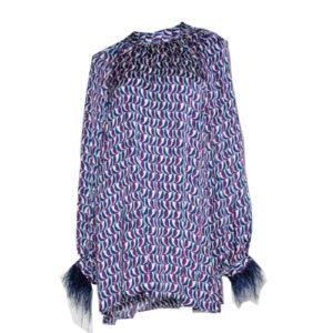 la-camicia-bluse-feder-feder-feather-arm-pattern