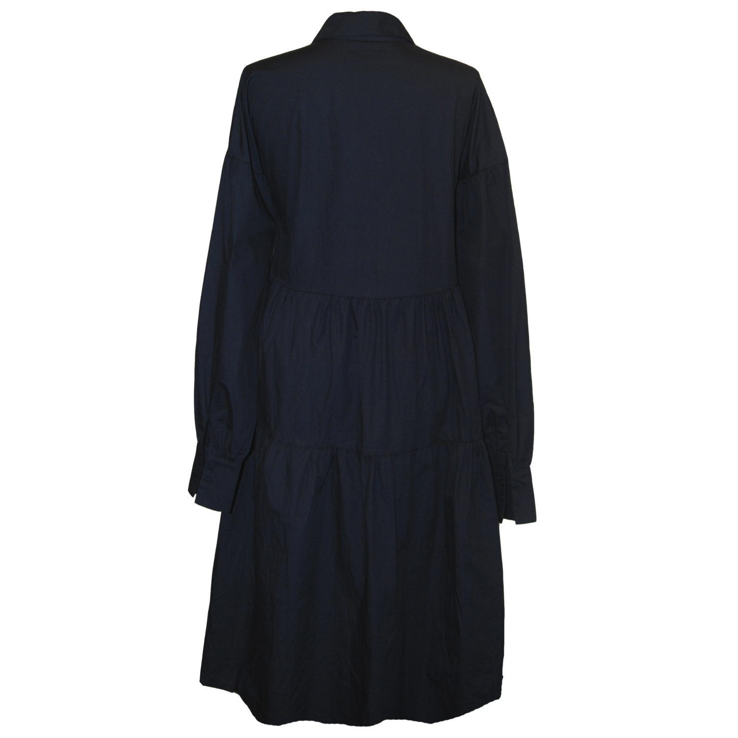 By Swan  Langes Kleid mit Kragen  dunkelblau