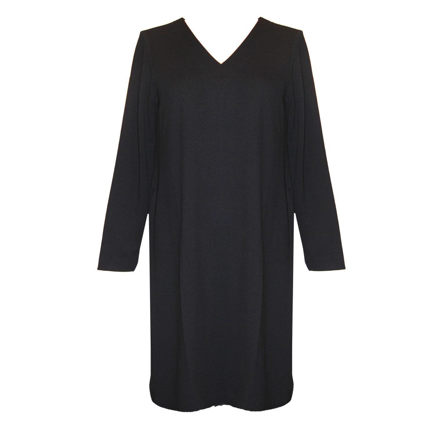 europeanculture | kleid mit v-ausschnitt | schwarz