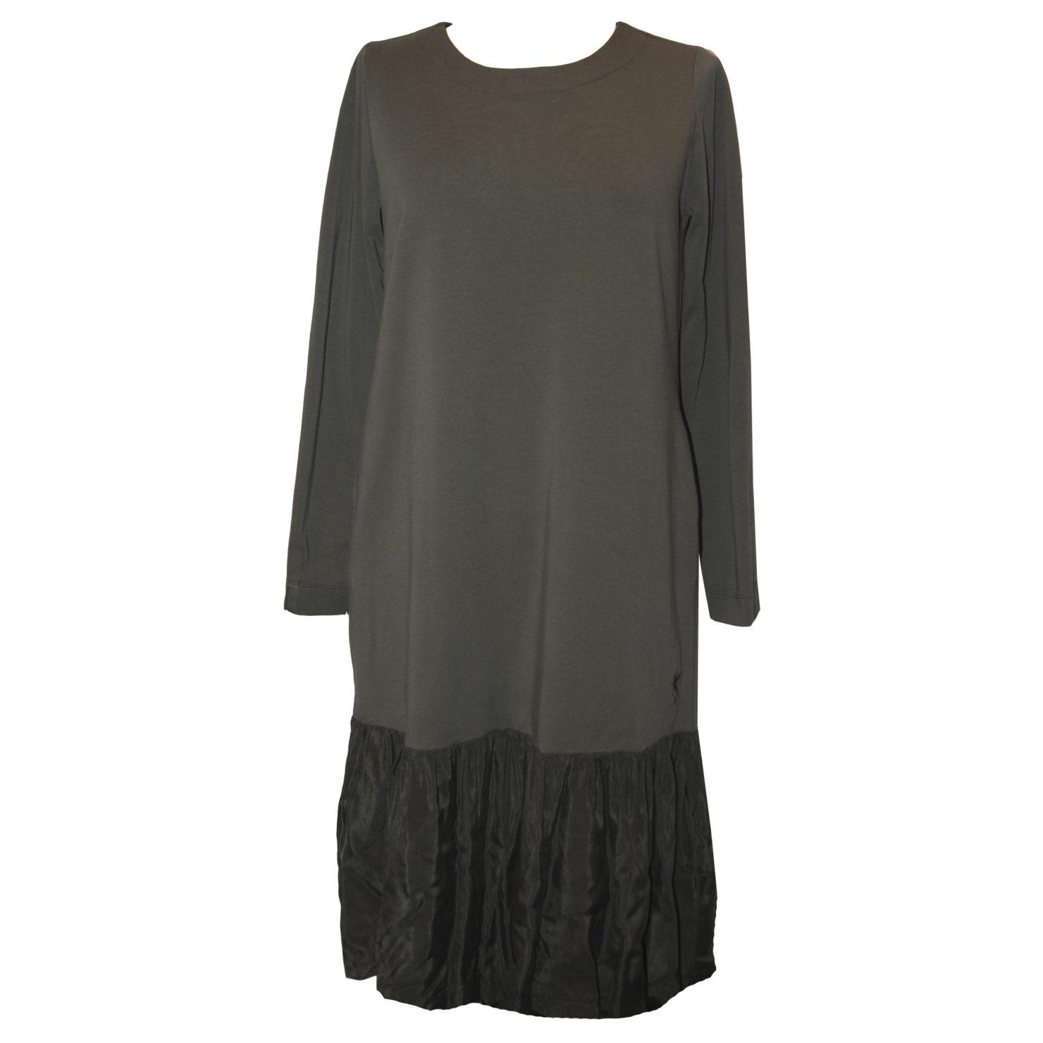 europeanculture | kleid mit volantrock | khaki